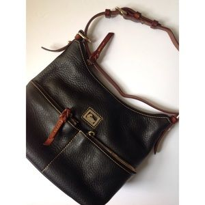 DOONEY & BOURKE Black Pebble Grain Purse Handbag